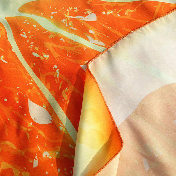 Round Lemon Slice Forme Plage Throw - Douce Orange ONE SIZE