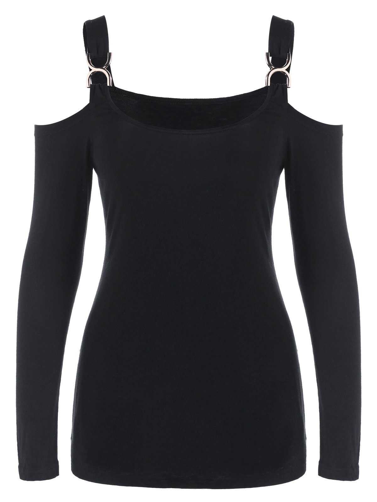 Cold Shoulder T-shirt Buckle - Noir M