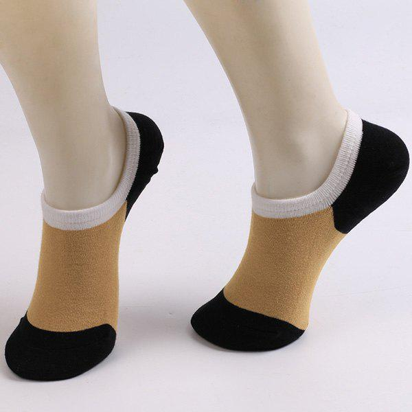 Fitted Skidproof Loafer Socks - BLACK/BROWN