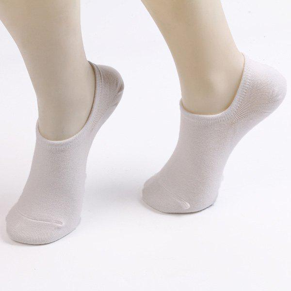 Fitted Skidproof Loafer Socks - WHITE