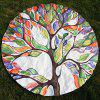 Colorful Arbre de vie Imprimer Plage ronde Throw - Coloré ONE SIZE