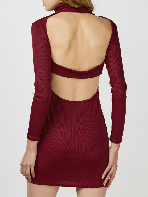 Red Backless Cocktail Jumper