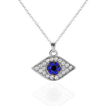 Eye Shape Rhinestoned Pendant Necklace