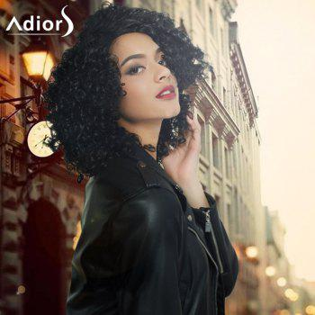 Adiors Medium Side Parting Afro Curly Capless Synthetic Wig