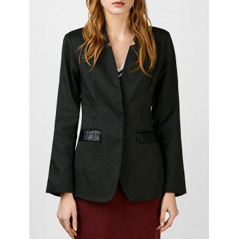 Satin Insert Snap Button Blazer