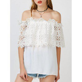 Lace Trim Off The Shoulder Cape Top