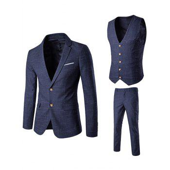Waistcoat Single Breasted Linellae Three Piece Suit