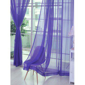 Window Decor Sheer Tulle Curtain For Living Room - PURPLE PURPLE