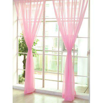 Window Decor Sheer Tulle Curtain For Living Room - PEARL LIGHT PINK 100*200CM