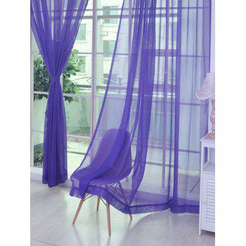 2 Pieces Sheer Tulle Fabric Window Curtains - PURPLE 100*200CM (2PCS/SET)