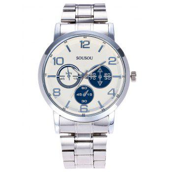 SOUSOU Metallic Strap Analog Watch