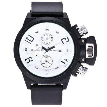 BRG STOCK Silicone Strap Date Watch