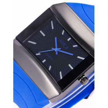 Silicone Strap Analog Square Watch - GREEN