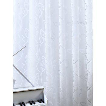 Home Decoration Leaf Embroider Tulle Curtain - 100*250CM 100*250CM