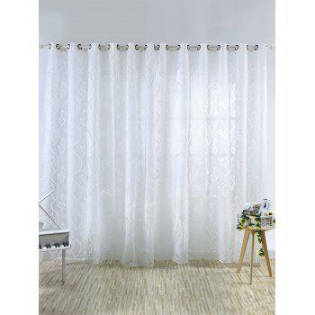 Home Decoration Leaf Embroider Tulle Curtain