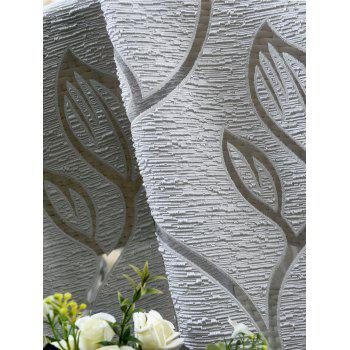 Home Decoration Leaf Embroider Tulle Curtain - GRAY 100*250CM