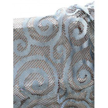 1Pcs Jacquard Fabric Sheer Voile Curtain - GRAY 100*250CM
