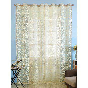 1Pcs Jacquard Fabric Sheer Voile Curtain