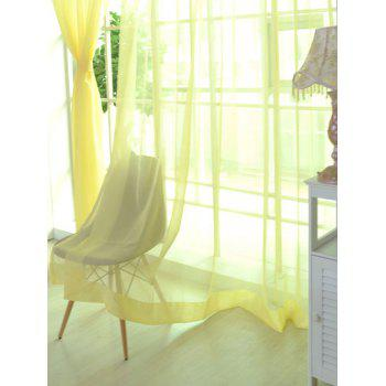 Window Decor Sheer Tulle Curtain For Living Room - LIGHT YELLOW LIGHT YELLOW