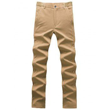 Plain Zip Fly Chino Pants