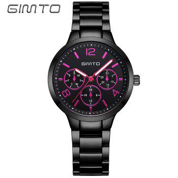 GIMTO Analog Metallic Quartz Watch