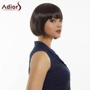 Adiors Silk Straight Short Neat Bang Bob Synthetic Wig