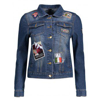 Patched Jean Jacket with Pocket