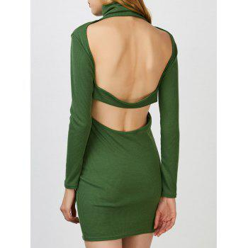 Backless Turtleneck Night Out Jumper Dress