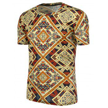 Ethnic Printed Short Sleeves Tee