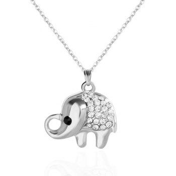 Elephant Rhinestone Pendant Necklace