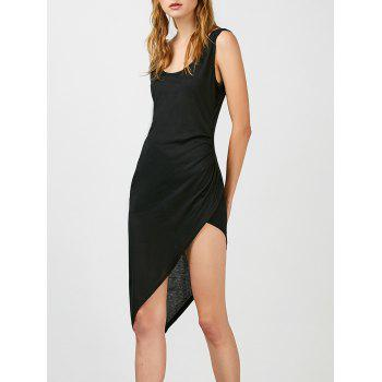 Asymmetric Hem Sleeveless Dress