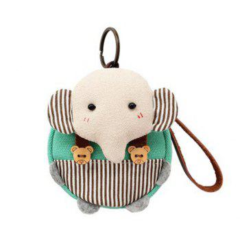 Canvas Cartoon Elephant Coin Purse