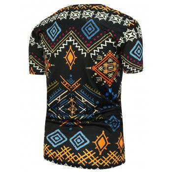 Geometric Ethnic Printed T-Shirt - COLORMIX 3XL
