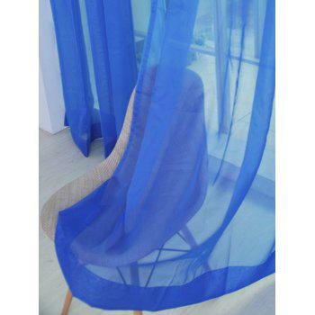 2 Pieces Sheer Tulle Fabric Window Curtains - DEEP BLUE 100*200CM (2PCS/SET)