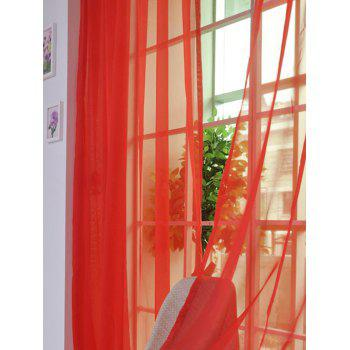 Window Decor Sheer Tulle Curtain For Living Room - BRIGHT RED 100*200CM