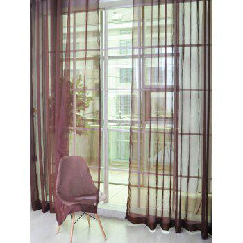 Window Decor Sheer Tulle Curtain For Living Room - COFFEE 100*200CM