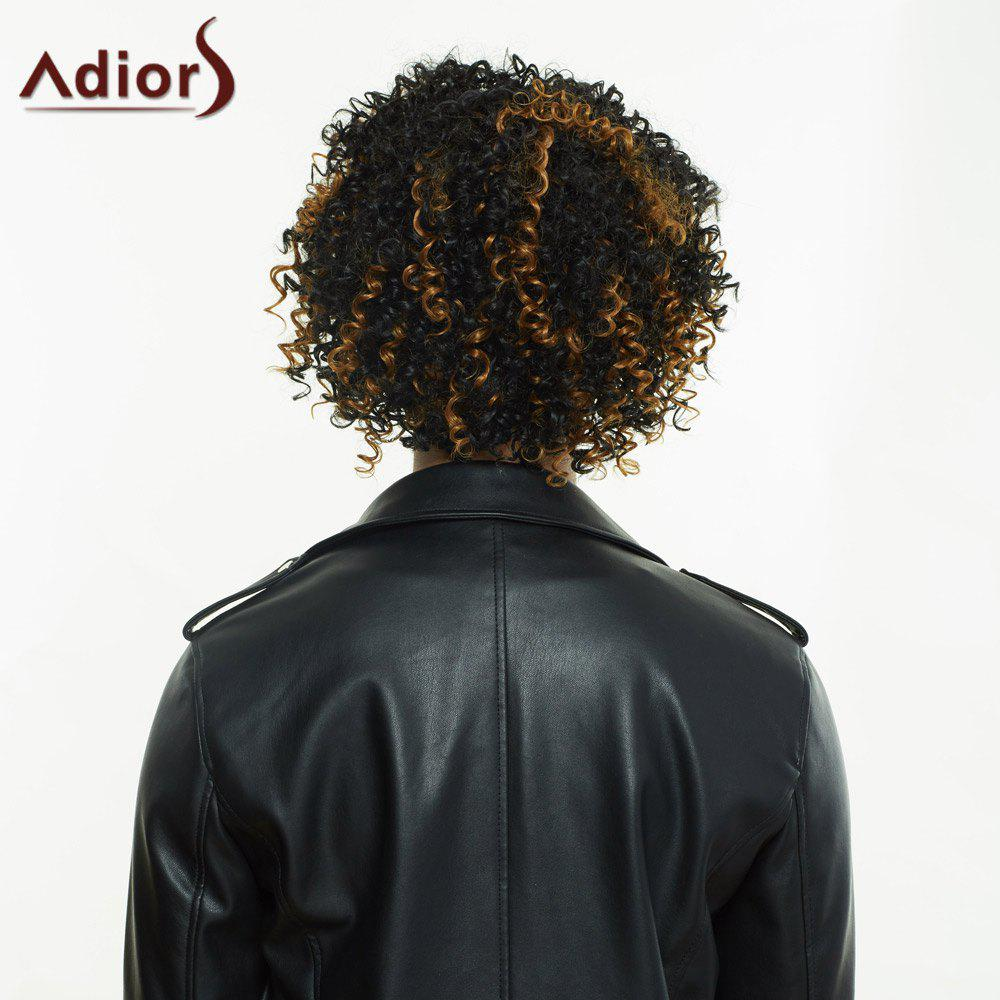 Adiors Short Colormix Afro Curly Full Bang Synthetic Wig - COLORMIX