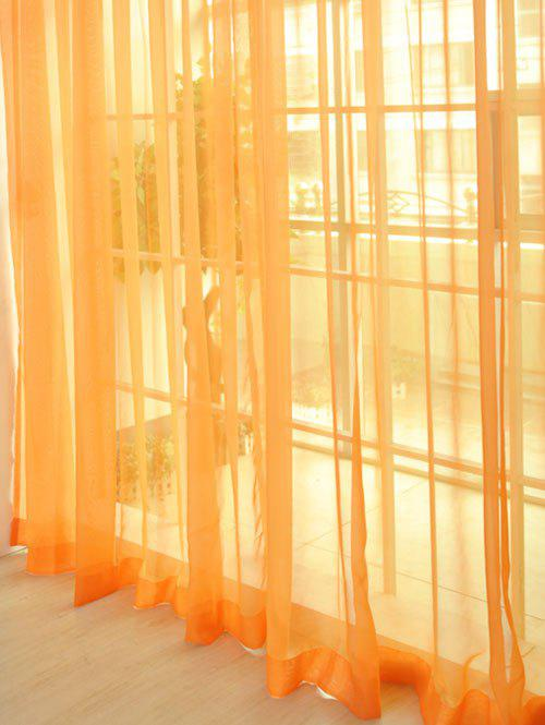 Window Decor Sheer Tulle Curtain For Living Room - ORANGE 100*270CM
