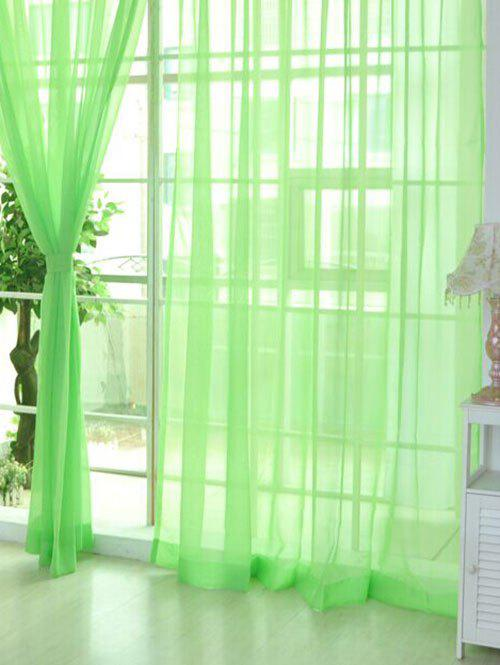 2 Pieces Sheer Tulle Fabric Window Curtains