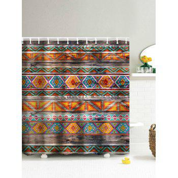 Tribal Wooden Eco-Friendly Dream Shower Curtain