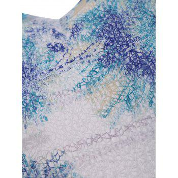 Print Lace Plus Size Top - COLORMIX 2XL