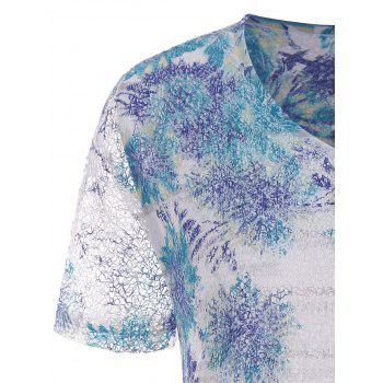 Print Lace Plus Size Top - COLORMIX 5XL