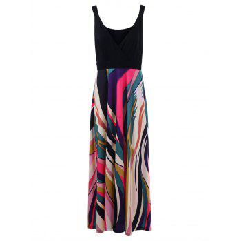 Plus Size Low Cut Graphic Maxi Dress