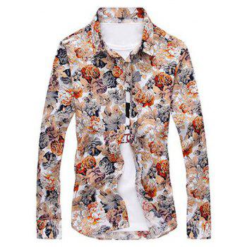 Buttoned Floral Print Shirt