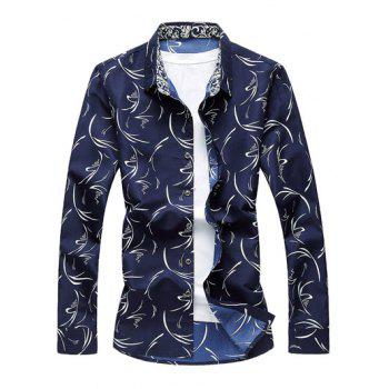 Scattered Printed Button Up Shirt