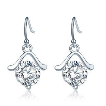 Rhinestone Hanger Drop Earrings