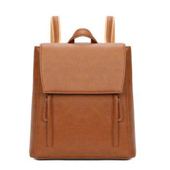 PU Leather Flap Backpack