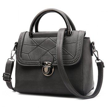 Push Lock Geometric Pattern Handbag