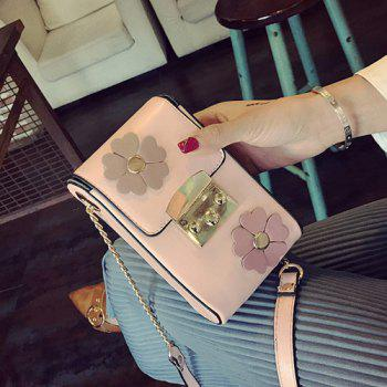Flower Mini Crossbody Bag with Chains