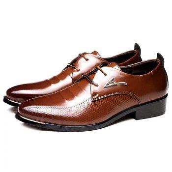 Faux Leather Tie Up Formal Shoes